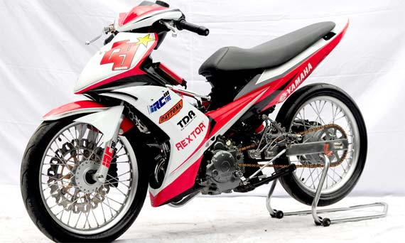 gambar modifikasi motor jupiter mx