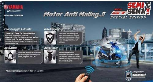 Fitur Antimaling Pada Yamaha New GT Eagle Eye Special Edition