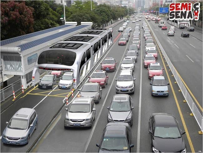 Keren! China Kembangkan Bus Anti Macet